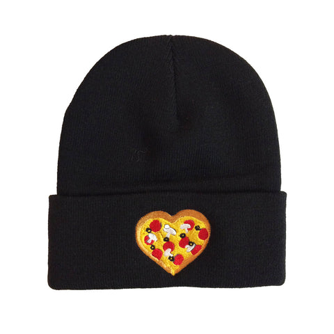 Pizza Heart Embroidered Toque