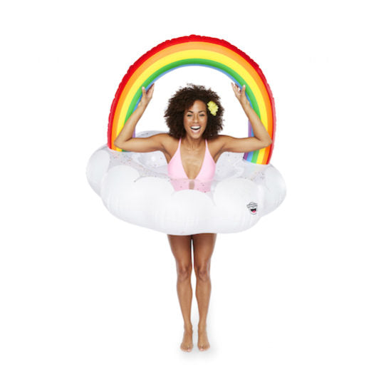 Gigantic Rainbow Cloud Pool Float