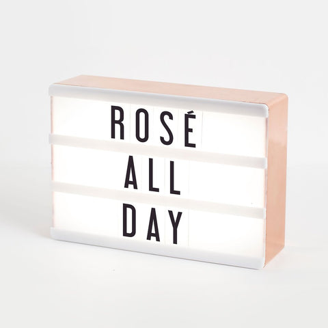 Amped & Co. Micro Cinema Lightbox in Rose Gold