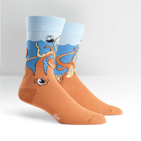 Mens Crew Socks - Squid-O