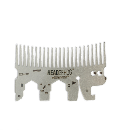 Hedgehog Wallet Comb - Silver