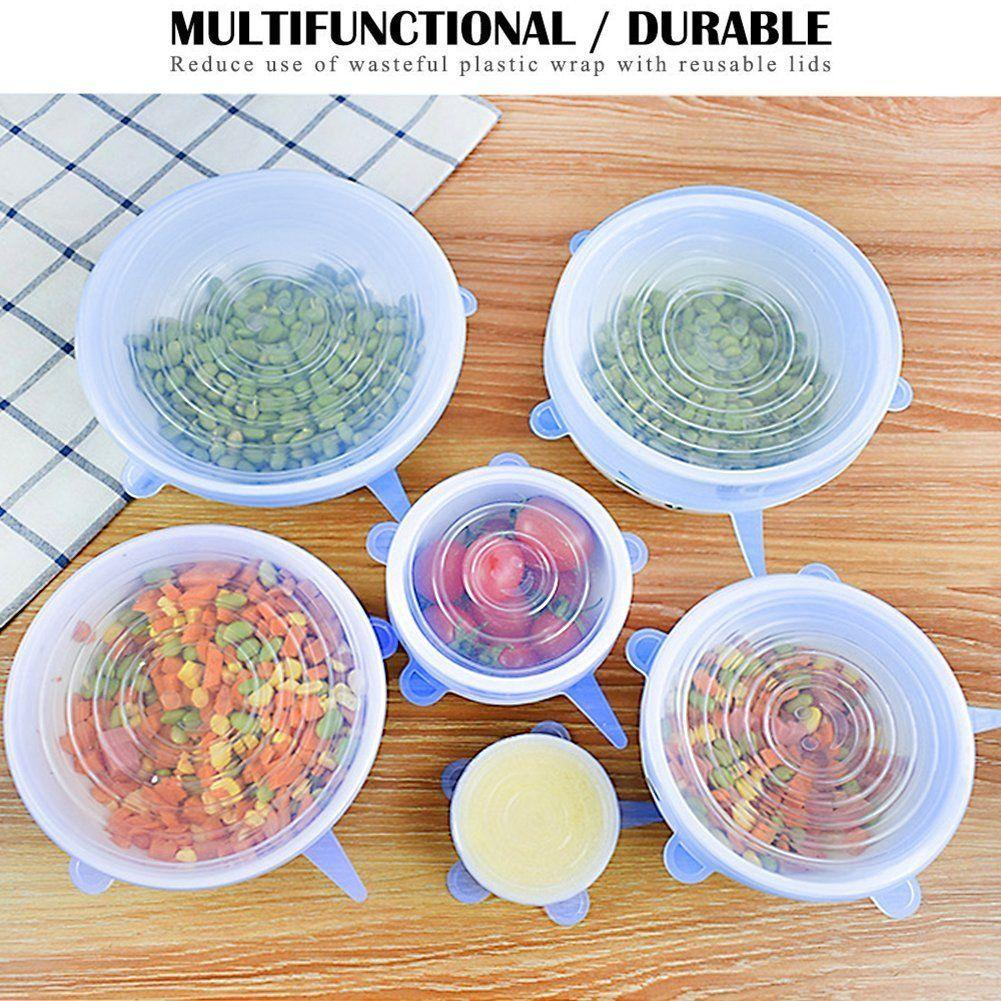 dd3ac2e3e765c ... 6 Pack Reusable Silicone Stretch Lids Kitchen Storage Wraps Cover  Various Sizes-Kitchen-BuyNSaveOnline ...