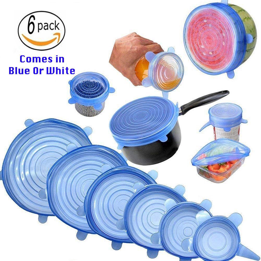 shopify-6 Pack Reusable Silicone Stretch Lids Kitchen Storage Wraps Cover Various Sizes-1