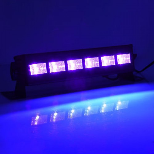 LED UV Wash Bar 6 x 3w