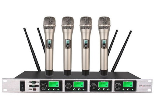 Wireless Microphone UHF 4 Way  Boly 5400