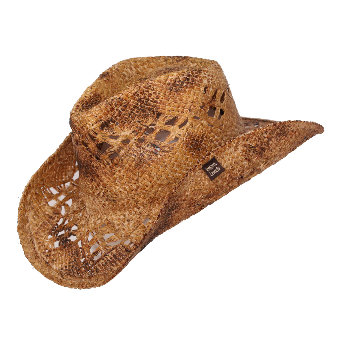 Harrie Underwood Women's Distressed Straw Cowboy Hat