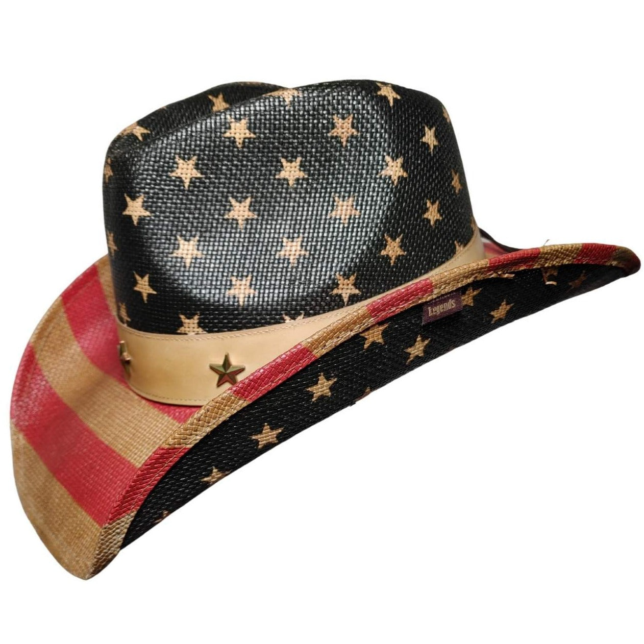 Frobie Keith American Flag Classic Cowboy Hat