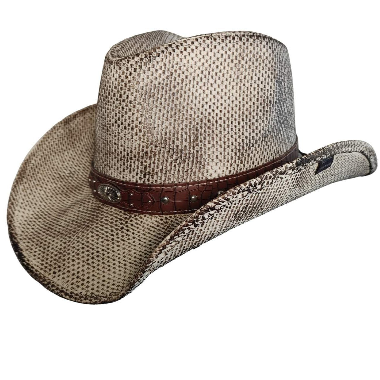 Redneck Legends Fake Snake Skin Leather Cowboy Hat