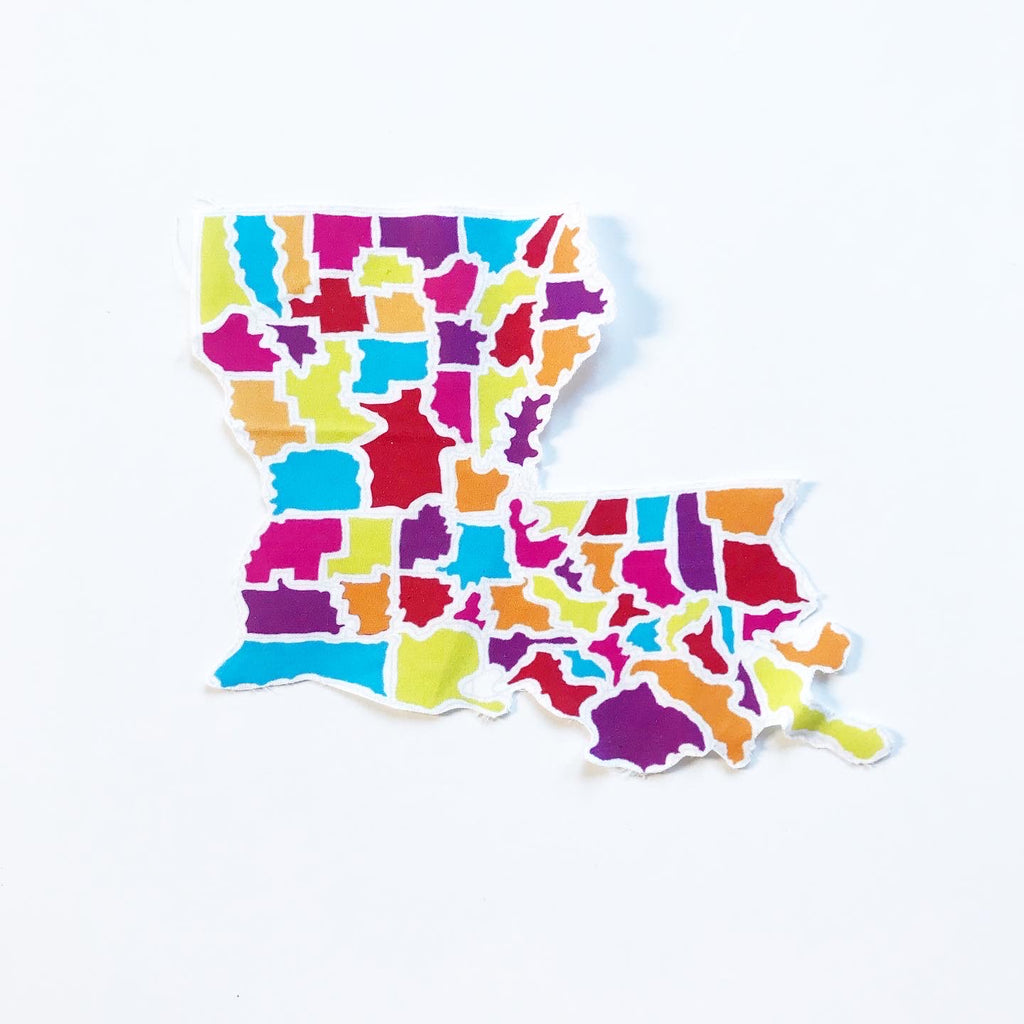 Louisiana State Map Appliqué