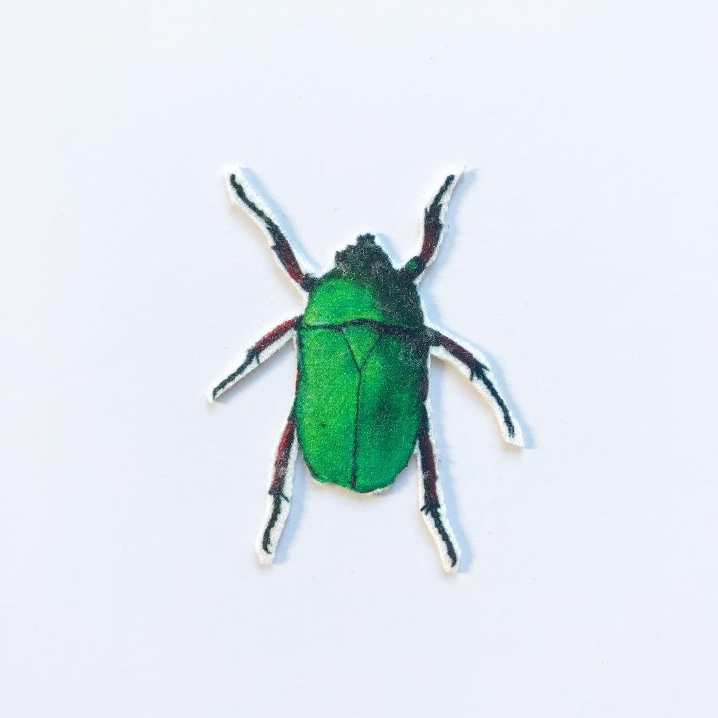 Green Beetle Appliqué