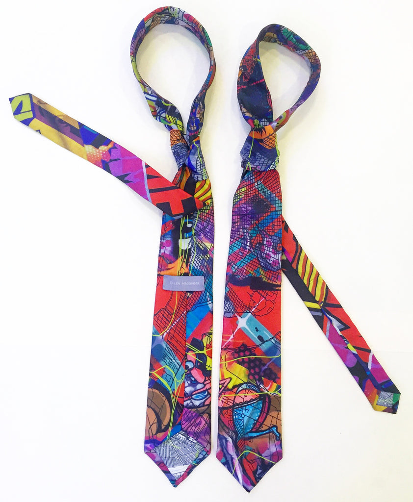 Graffiti Silk Necktie