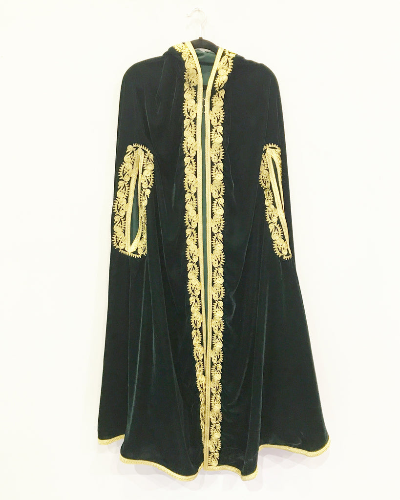 Forest Green Velvet Cape