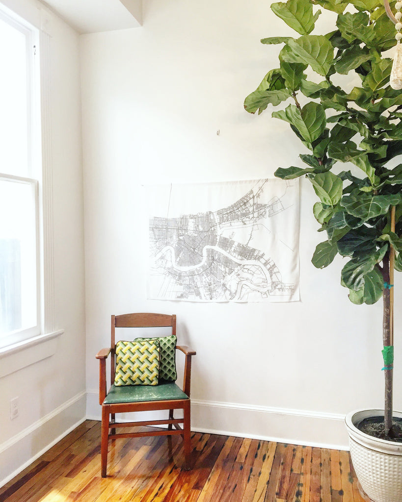 New Orleans Map Hanging Tapestry