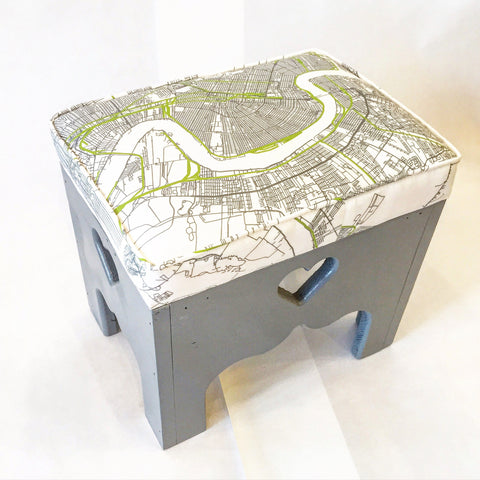 New Orleans Map Step Stool