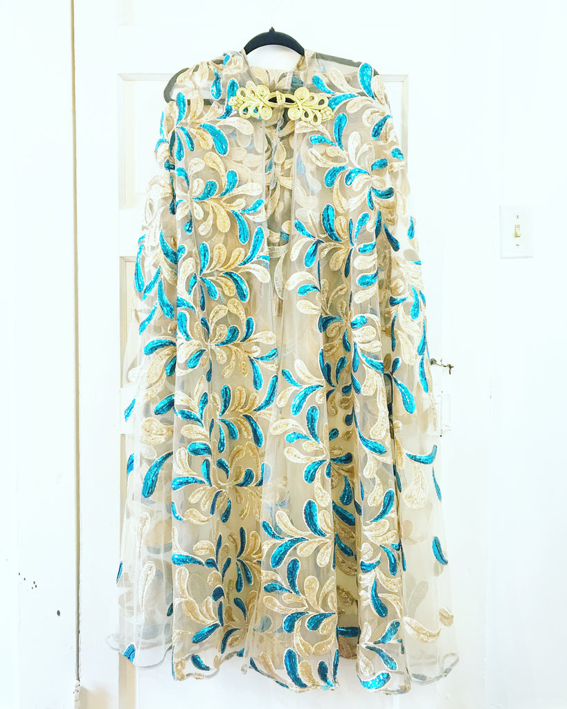 Sequin Leaf Cape
