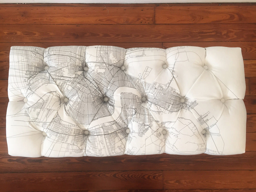 Tufted NOLA Map Bench