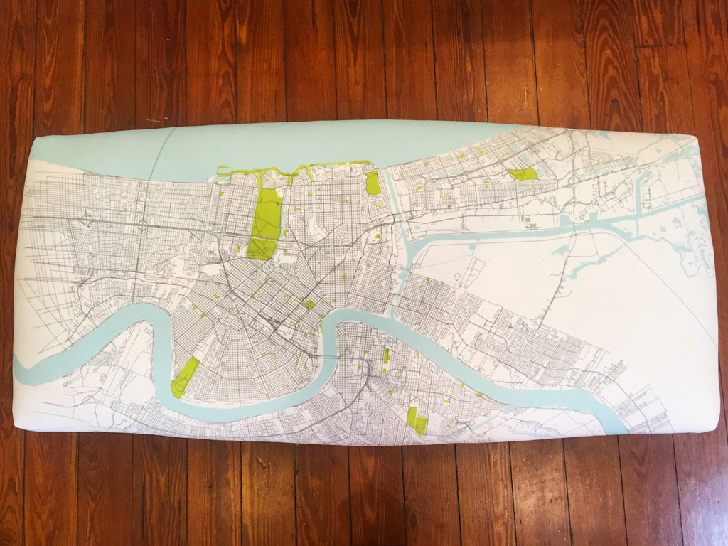 New Orleans Map Bench