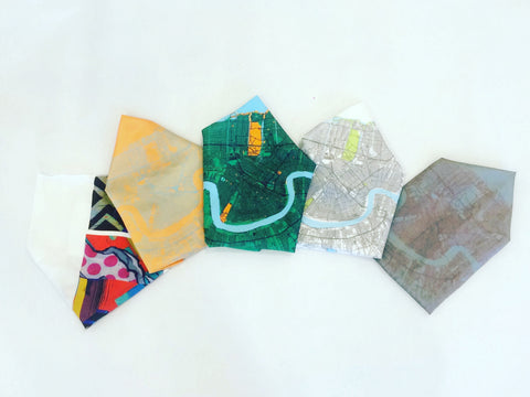 New Orleans Map Silk Pocket Squares