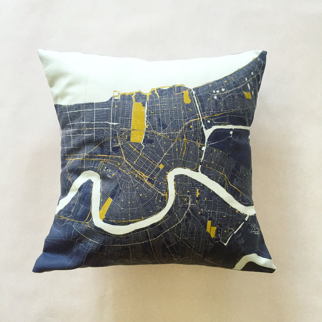 Multi- Colored NOLA Map Pillows