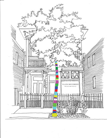 Custom Pen and Ink Architectural Rendering