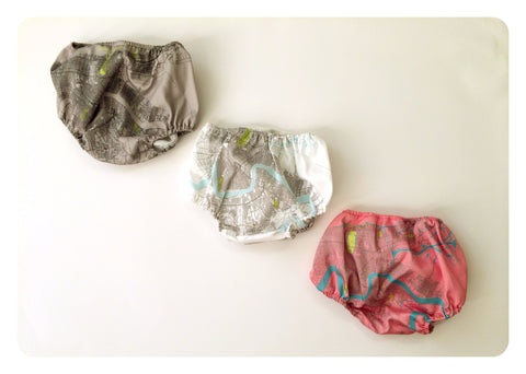 New Orleans Map Baby Bloomers