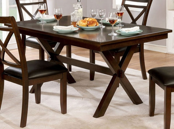 Awesome Jolie Dark Cherry Wood Dining Table Caraccident5 Cool Chair Designs And Ideas Caraccident5Info