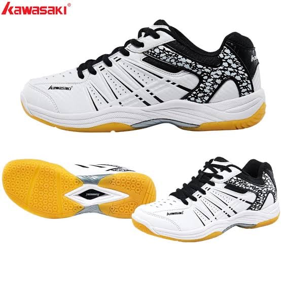Kawasaki Badminton Shoes K-063 (White/Black) US4 35