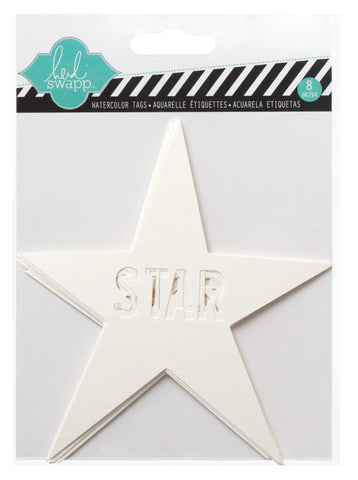 Heidi Swapp Color Magic Watercolour Tags: Stars
