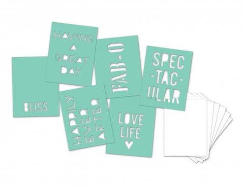 Heidi Swapp Stencil Minis: Words