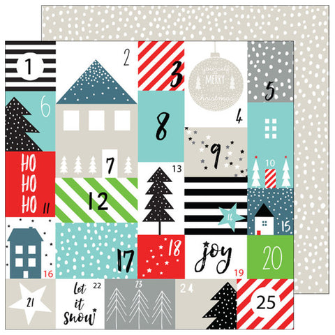 Advent Love 12x12 Paper - Pinkfresh Studio Oh Joy