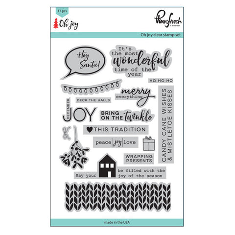 Oh Joy Stamp Set (4x6) - Pinkfresh Studio Oh Joy