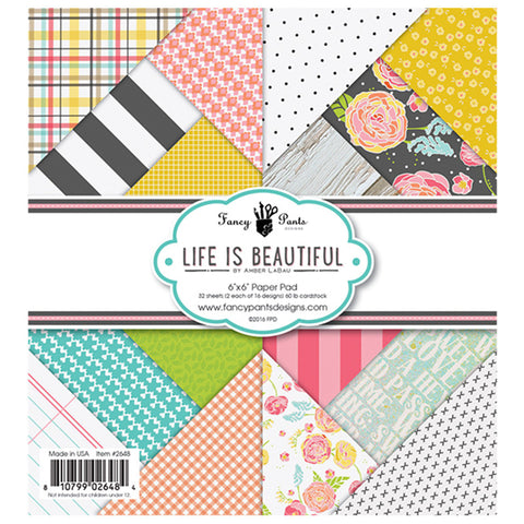 6x6 Paper Pad - Fancy Pants Life is Beautiful