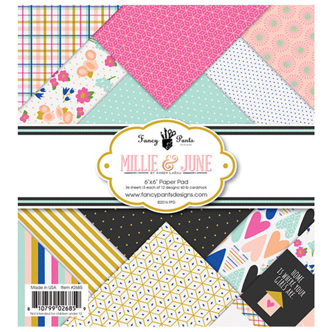 6x6 paper pad - Fancy Pants Millie & June