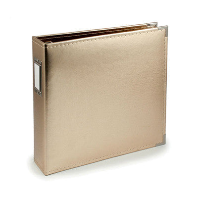 Gold 12x12 Ring Faux Leather Album - WRMK