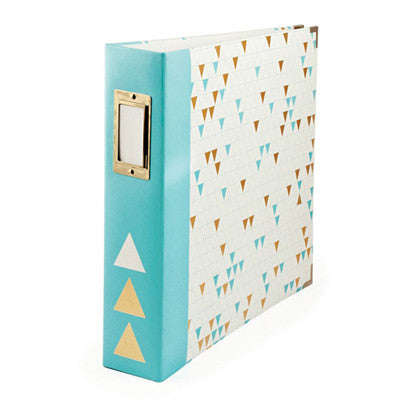 Gold Foil Triangle 12x12 Ring Album- WRMK