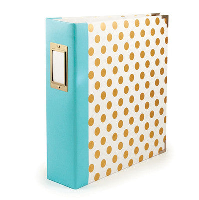 Gold Foil Dot 8.5x11 Ring Album - WRMK