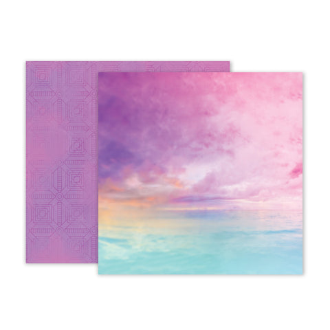 Paper 02 12x12 Pattern Paper - Pink Paislee - Summer Lights
