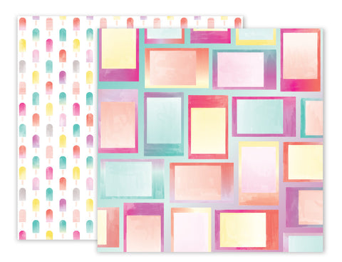 Paper 07 12x12 Pattern Paper - Pink Paislee - Summer Lights