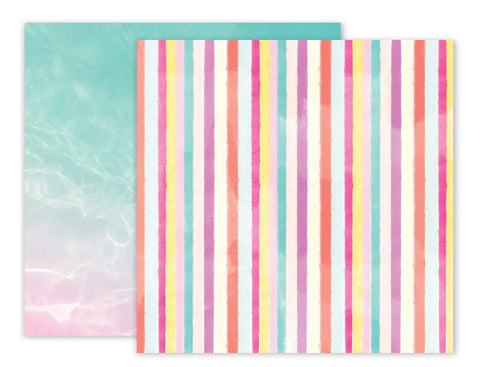 Paper 09 12x12 Pattern Paper - Pink Paislee - Summer Lights