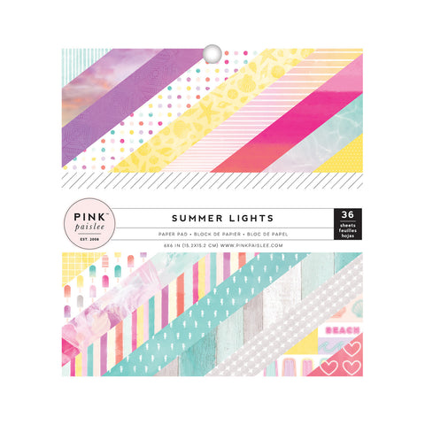 6x6 Paper Pad - Pink Paislee - Summer Lights