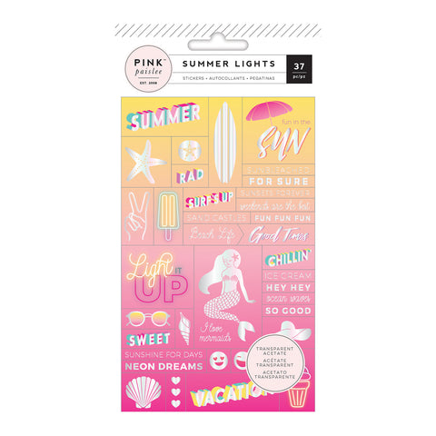 Word Jumble Stickers - Pink Paislee - Summer Lights