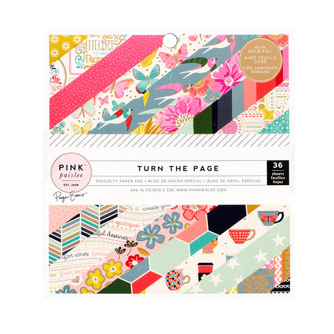 6x6 Paper Pad - Paige Evans - Turn the Page