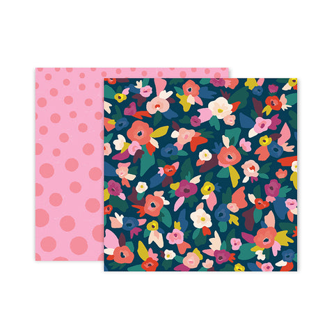 Paper 2 12x12 Pattern Paper - Pink Paislee - Paige Evans Pick Me Up