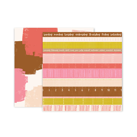 Paper 12 12x12 Pattern Paper - Pink Paislee - Paige Evans Pick Me Up