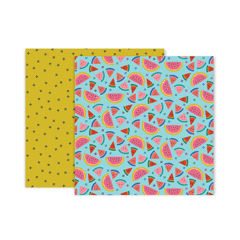 Paper 18 12x12 Pattern Paper - Pink Paislee - Paige Evans Pick Me Up