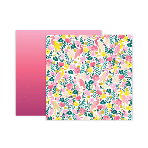 Paper 23 12x12 Pattern Paper - Pink Paislee - Paige Evans Pick Me Up