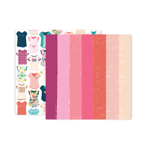 Paper 24 12x12 Pattern Paper - Pink Paislee - Paige Evans Pick Me Up