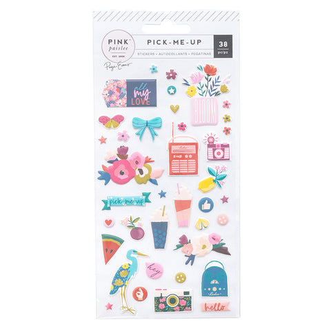 Puffy Stickers - Pink Paislee - Paige Evans Pick Me Up