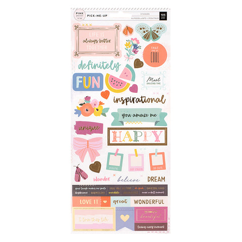 Cardstock Stickers - Pink Paislee - Paige Evans Pick Me Up