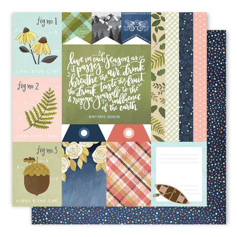 Take Note 12x12 Pattern Paper - 1Canoe2- Creekside